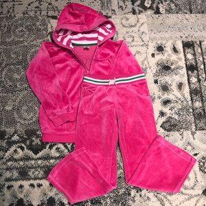 Carter's Hot Pink Velour Sweatsuit set!
